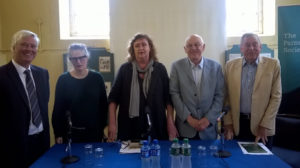 Panel chaired by Stephen Collins (left) for the Assessing Commemoration: 2016 and the Decade of Centenaries